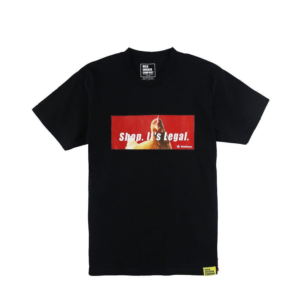 WCC Legal Chicken Tee Black