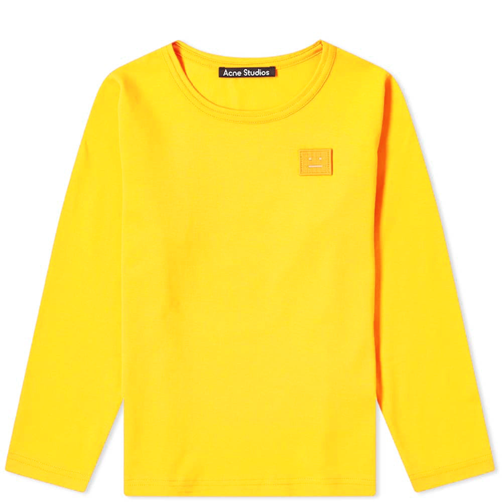 Acne Studios Mini Nash Face Long Sleeve Yellow