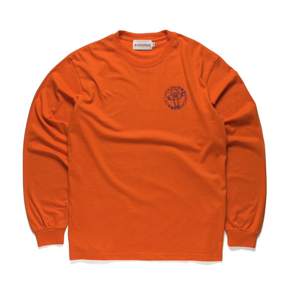 'PLEASE CALL' Longsleeve Orange