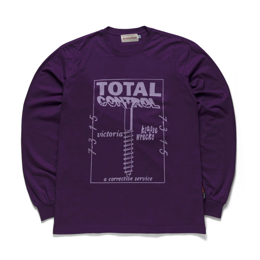 'TOTAL CONTROL' Longsleeve Purple