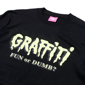 "Load image into Gallery viewer, ""FUN OR DUMB"" Black Tee"
