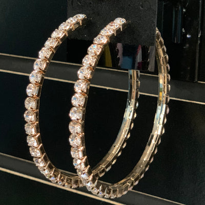 Gold Bling Hoop Earrings