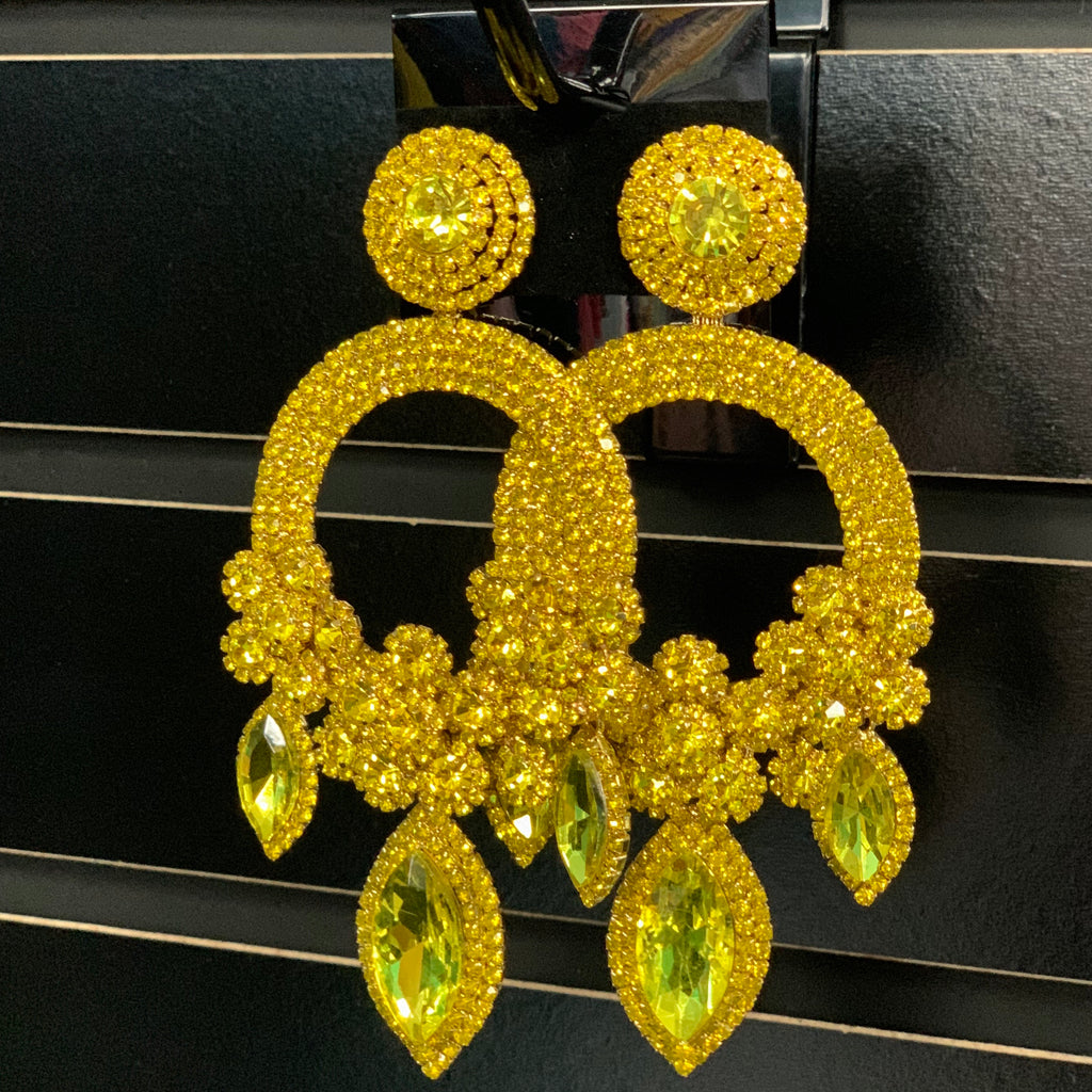 Yellow Olivia Earrings