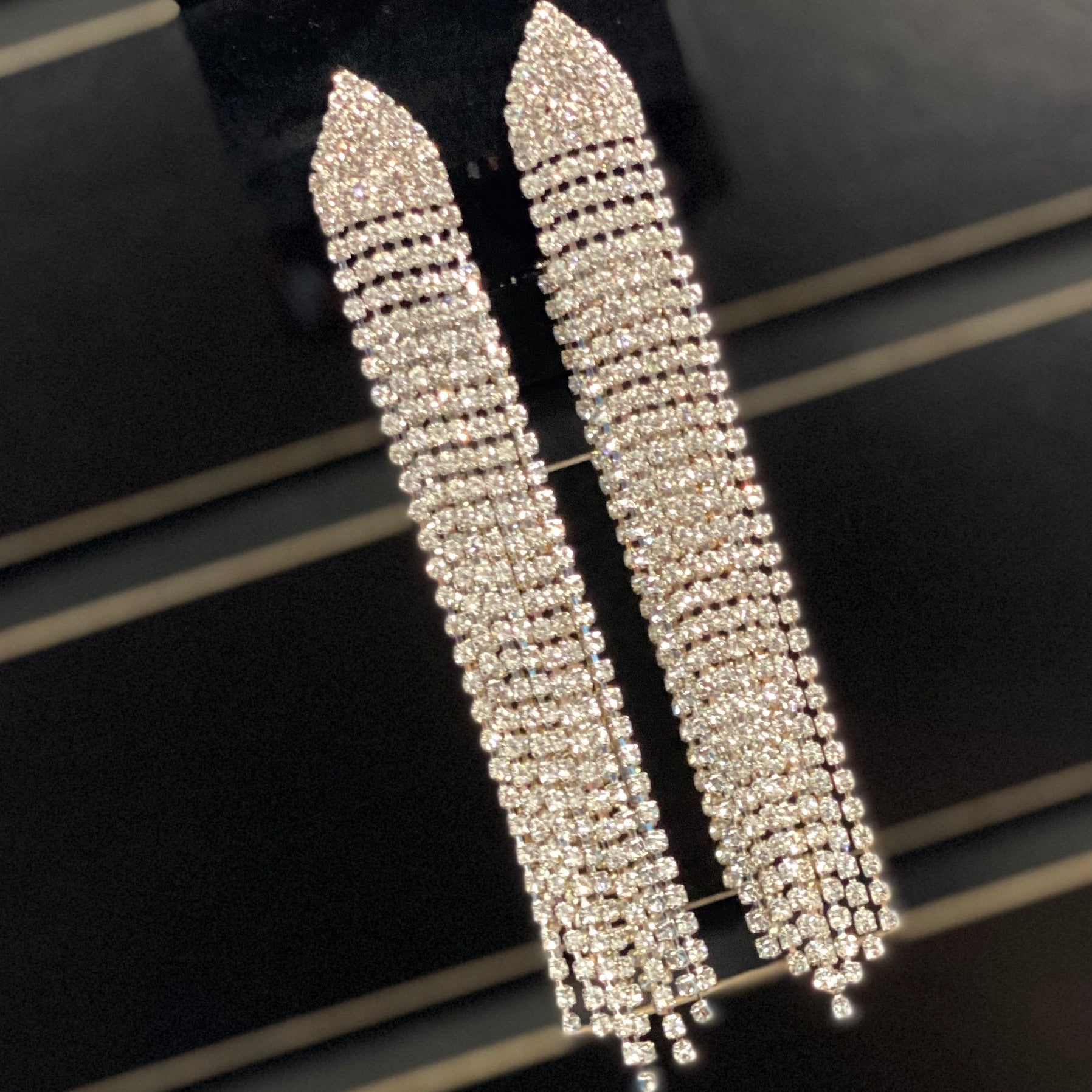 Silver Waterfall Earrings