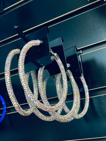 Bright Bling Hoops