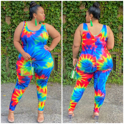 Tye Dye Smoke Jumpsuit