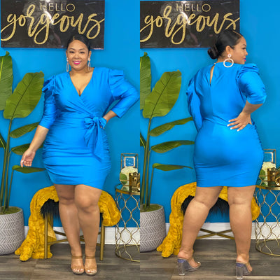 Turquoise Evelyn Dress