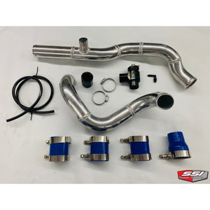 SSI Aluminum Charge tubes with BOV port and Turbosmart BOV