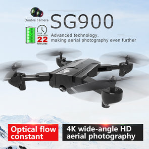 SG900 4K Drone Double Camera HD 22mins flight Profession FPV RC GPS Drone Fixed Point Altitude Hold Drone  VS GPS SG900S