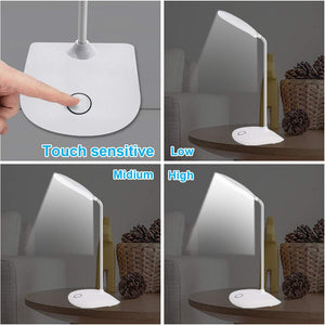 LED Desk Lamp with Flexible Gooseneck
