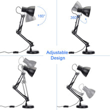 Load image into Gallery viewer, Adjustable Swing Arm Desk Lamp with Clamp