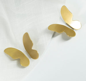 Golden Satin Brass Butterfly Cabinetry Pull Knob