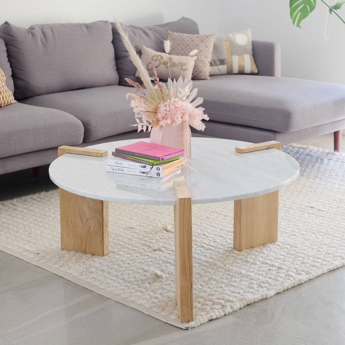 Cali Marble Coffee Table (Made To Order)