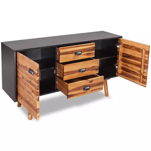 Wooden Sideboard Wood Cabinet Wooden Storage Wooden Cabinet Wooden Buffet Unit Living Room Furniture