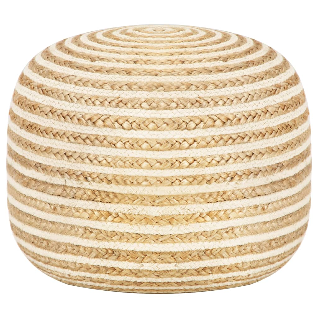 Steph Braided Jute Pouf