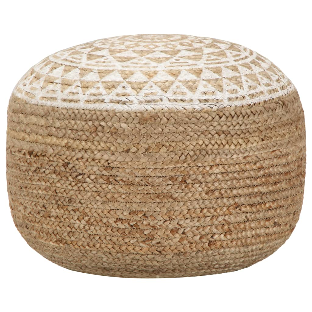 Asher Braided Jute Pouf