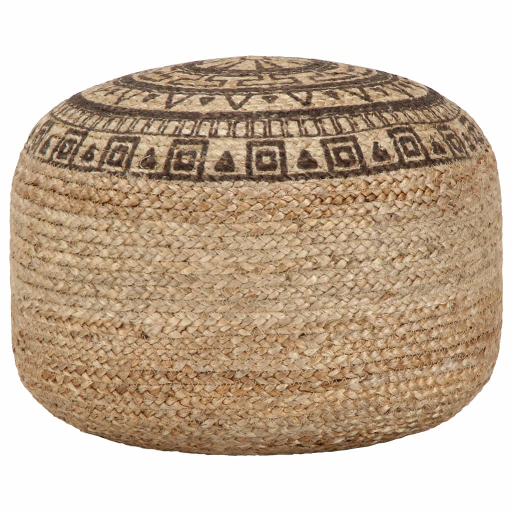 April Braided Jute Pouf