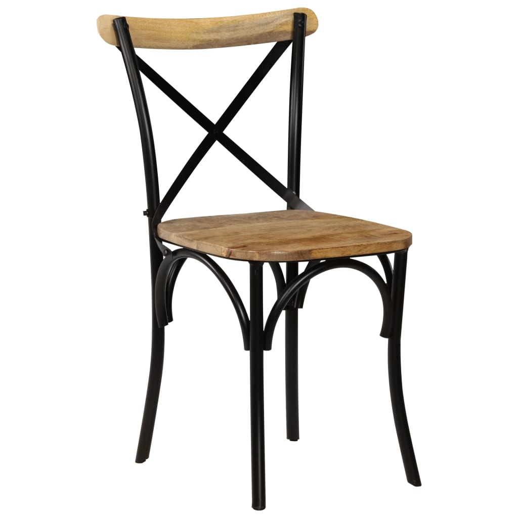 Jenna Mango Wood Dining Chair (Set Of 2 - Black)