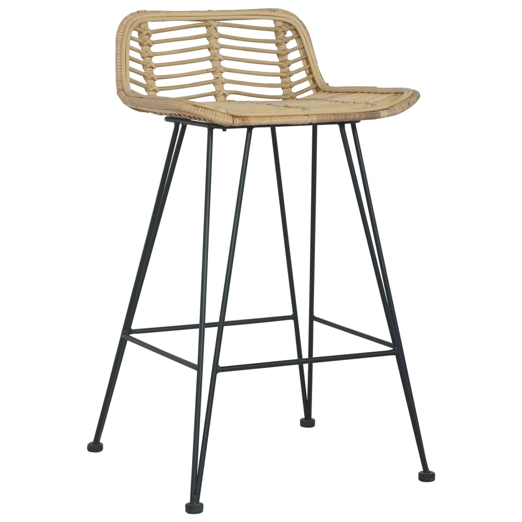 Dotan Rattan Bar Stools (Set Of 2 - Natural)