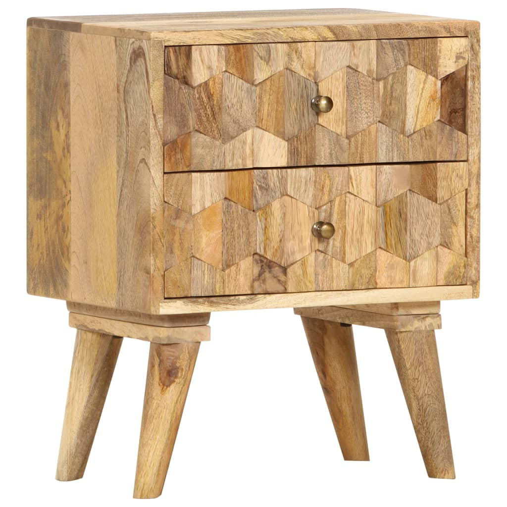 Kenzie Mango Wood Bedside Table