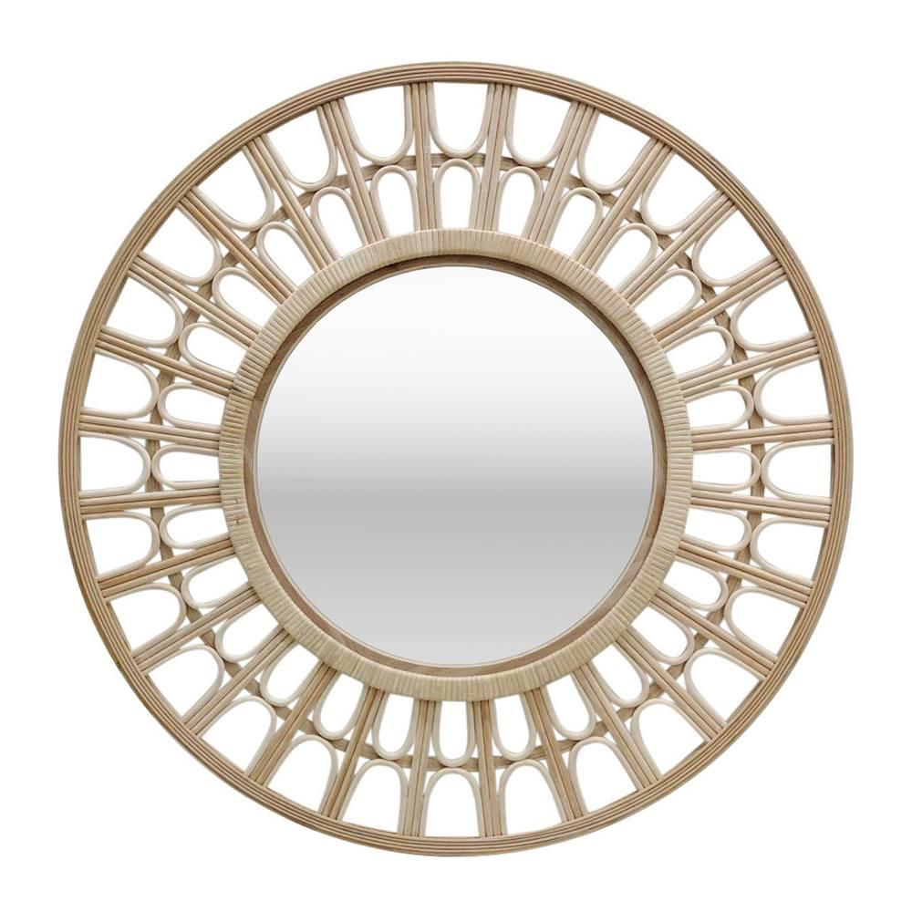 Irene Bamboo Mirror (Whitewash)