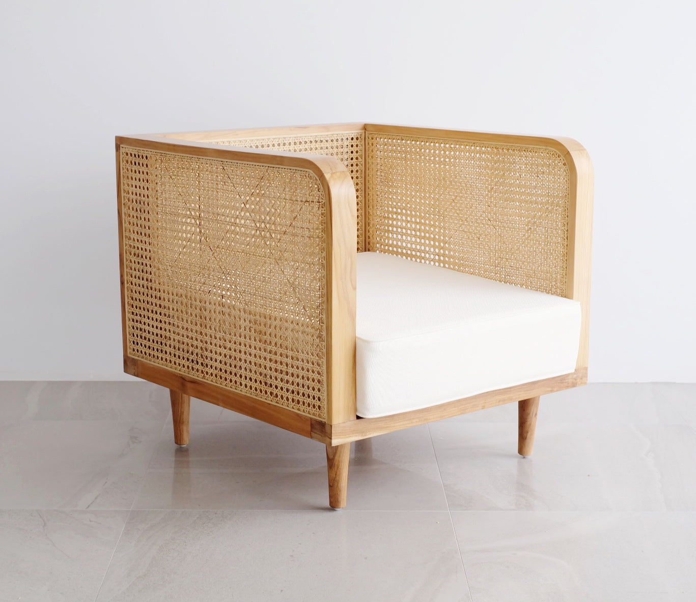 Bhumi Rattan Teak Wood Arm Chair (Made To Order)