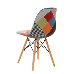 Retro Fabric Dining Chair Multi Colour Dining Chair Dining Room Furniture Australia Colorful Chair