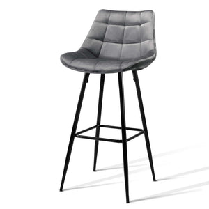Velvet Grey Bar Stool Perth Australia Modern Bar Stool High Bar Stool