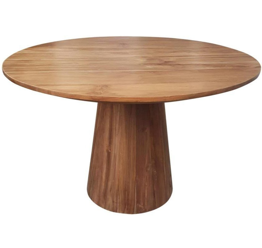Bronx Teak Wood Round Dining Table (Made to order)