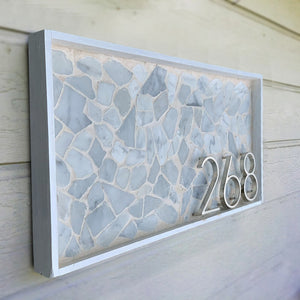 Silver Floating House Number & Letters