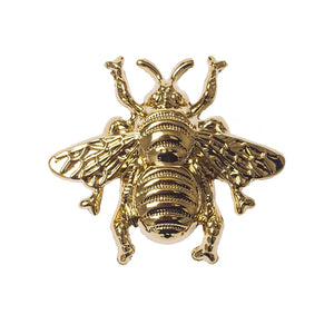 Golden Brass Bee Cabinetry Pull Knob