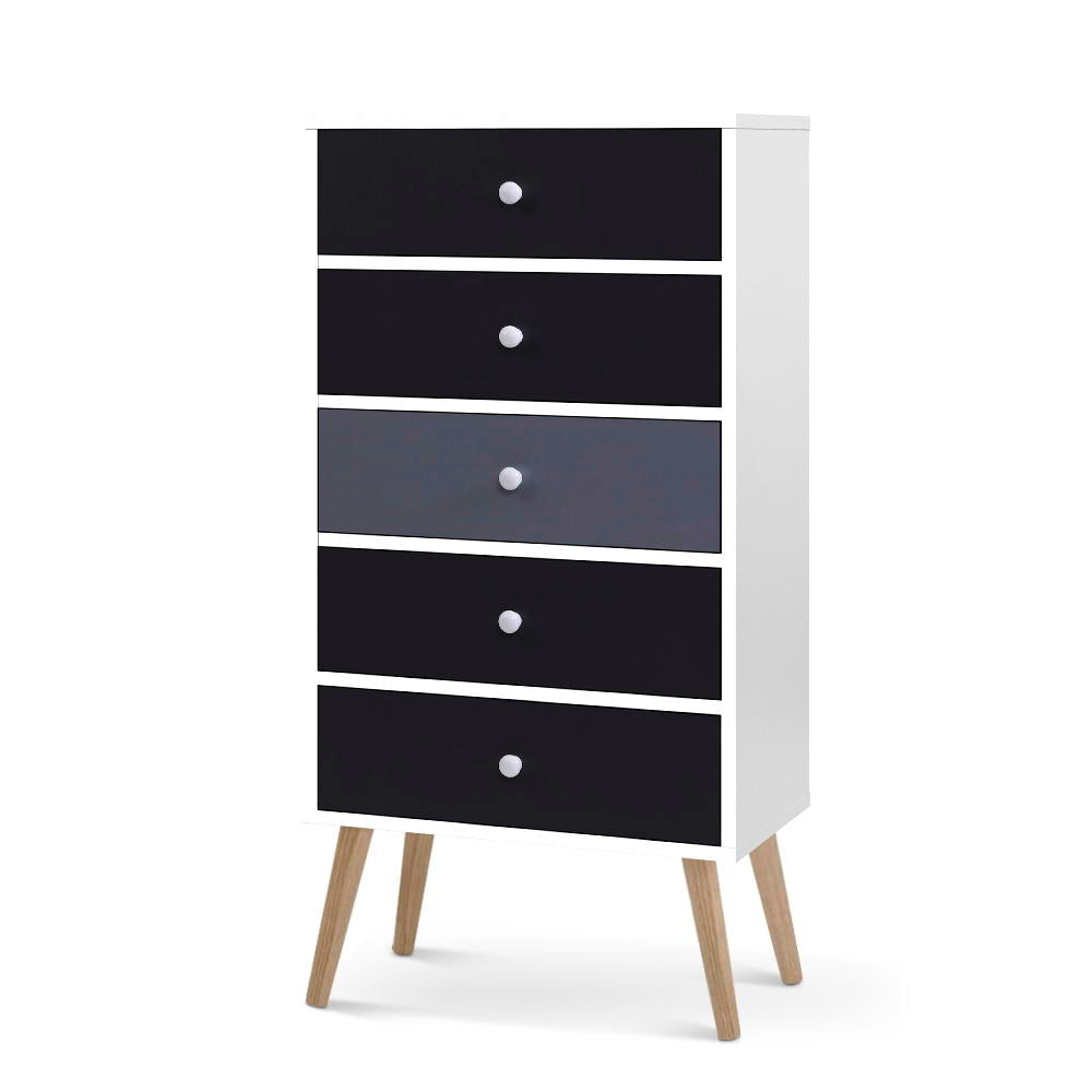 Clemence Five Drawers Tallboy