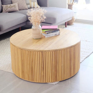Cruz Round Teak Wood Coffee Table | Exclusive
