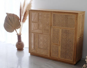 Tango Rattan Teak Wood Buffet Unit | Exclusive