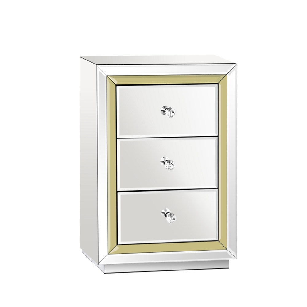 Bedside M irror Table Mirrored Furniture Bedside Table Drawers Gloss Bedside Drawer Nightstand Bedroom Furniture Australia