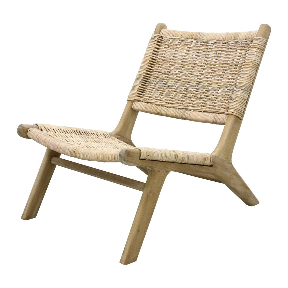 Slate Teak Wood Lounge Chair (Made To Order)