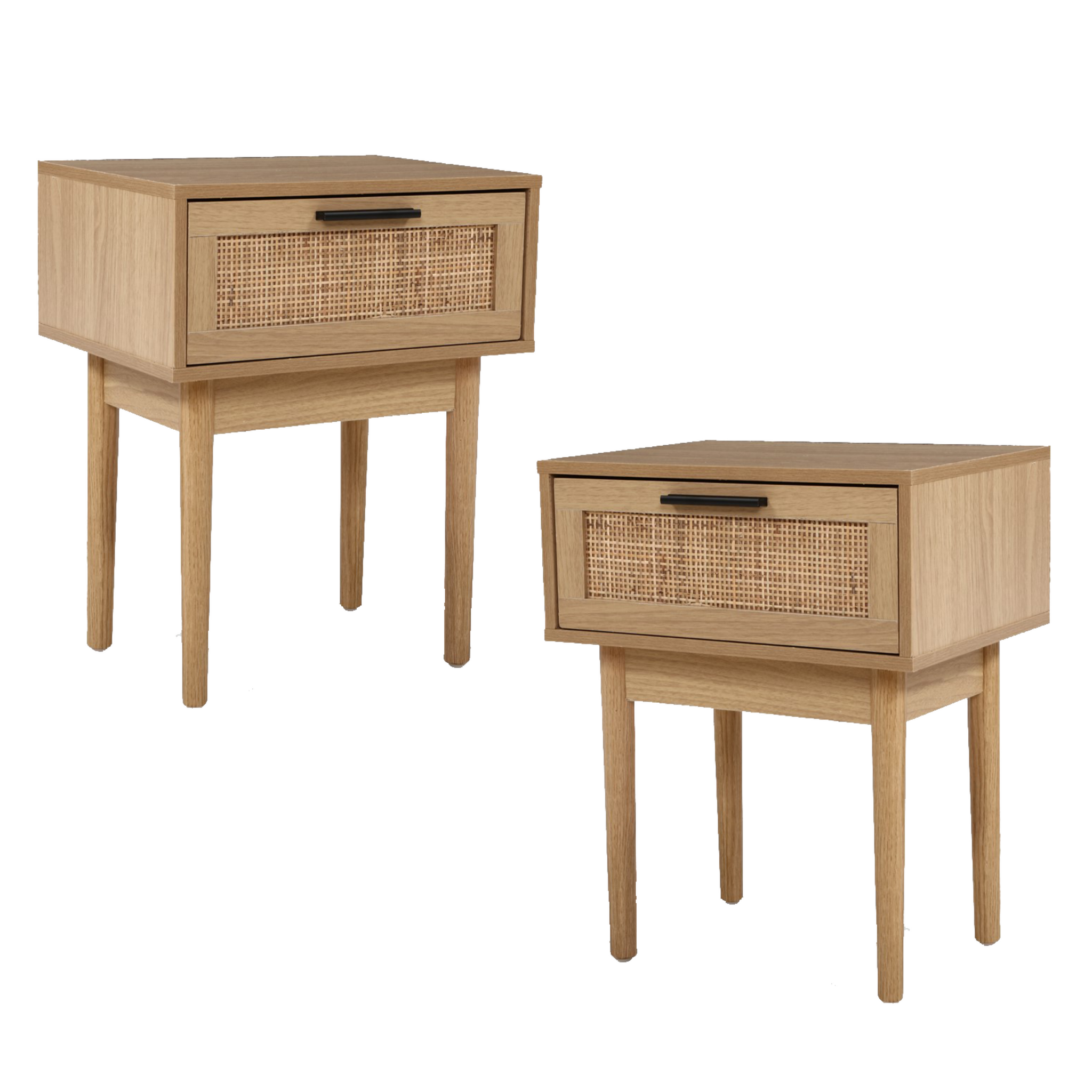 Camilla Rattan Side Tables Set Of 2 J C Homewares Furniture