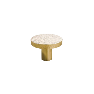 Golden Textured Round Shaped Cabinetry Knob II