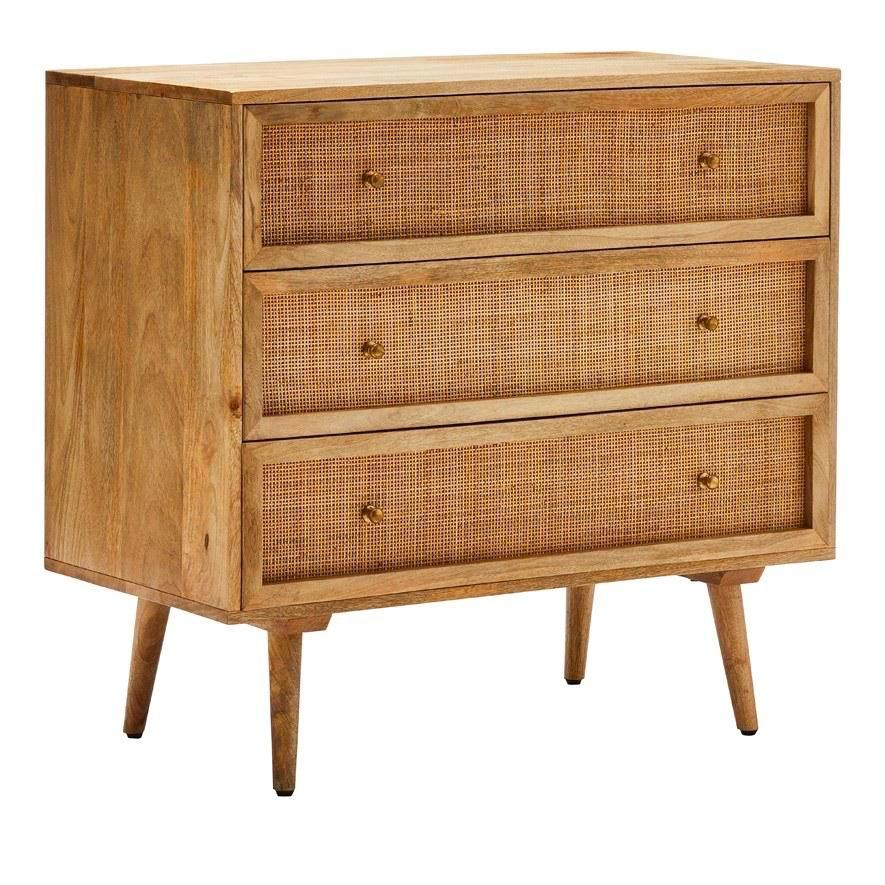 Wayang Rattan Teak Wood Chest Of Drawers (Made To Order)