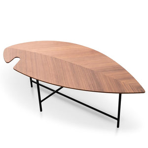 Leaf Wooden Walnut Coffee Table Leaf Coffee Table Leaf Shape Coffee Table