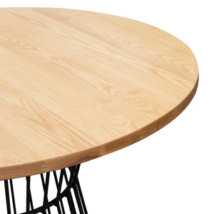 Natural Timber Top Round Dining Table Australia Natural Dining Table