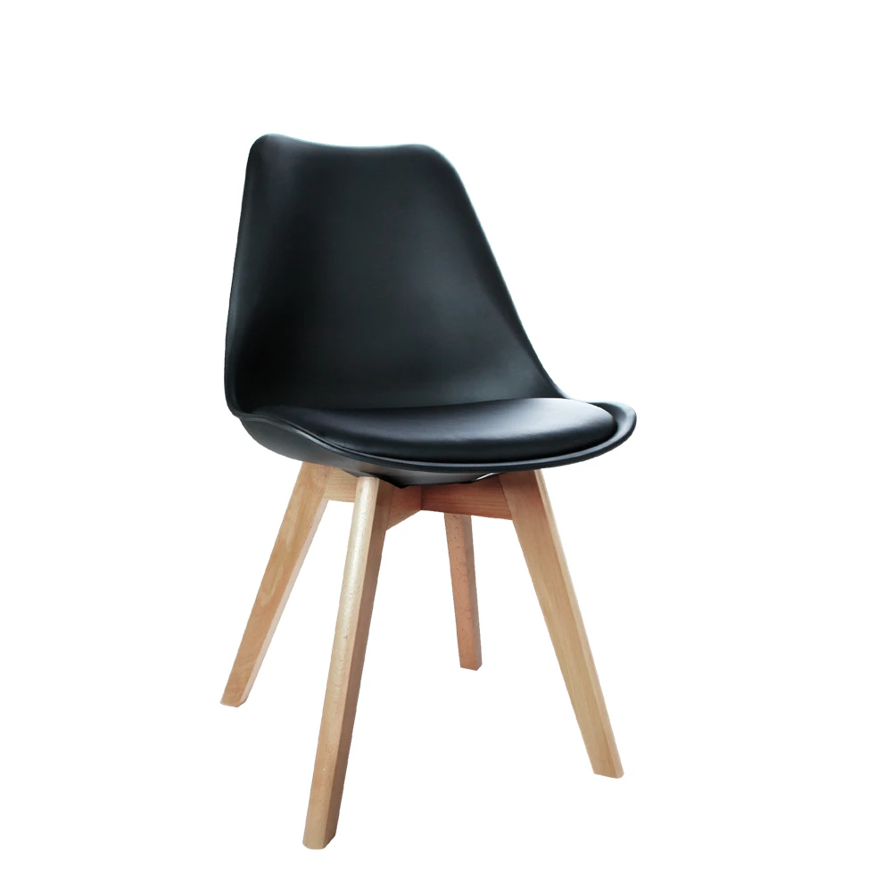 Black Dining Chair Dining Furniture Australia Wooden Leg Dining Chair Padded Seat Dining Chair