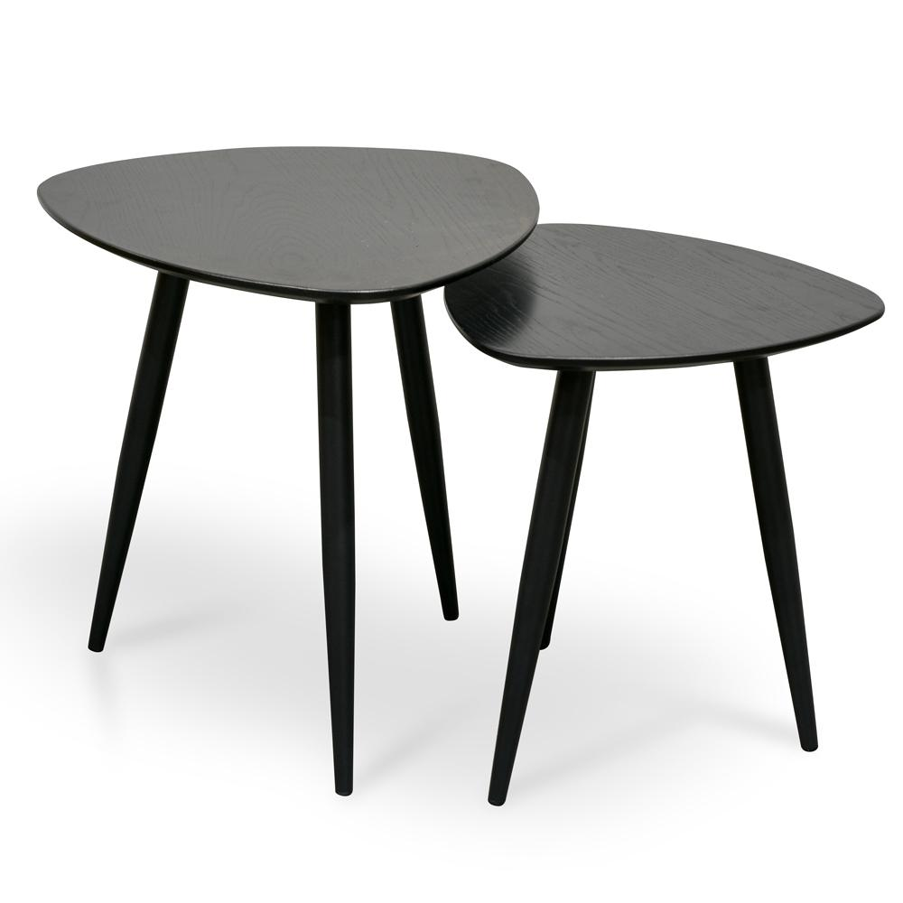 Black Nest Of Table Black Nesting Table Black Coffee Nest Table