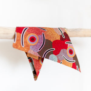 Dog bandana featuring Aboriginal artwork
