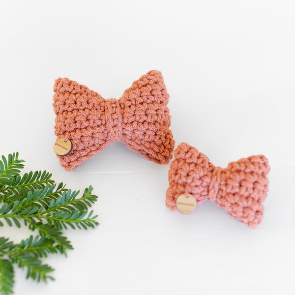 Leo Recycled Cotton Bow Tie - Copper