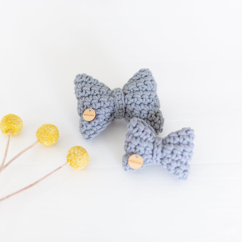 Recycled cotton dog bow tie