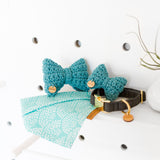 Leo Recycled Cotton Bow Tie - Dark Teal
