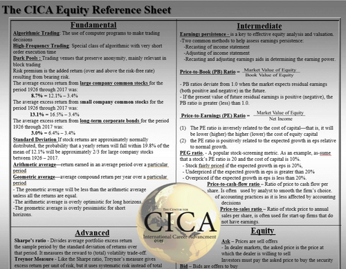 The CICA Equity Reference Desktop Guide