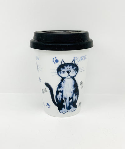 Travel mug one wall Alley Cats
