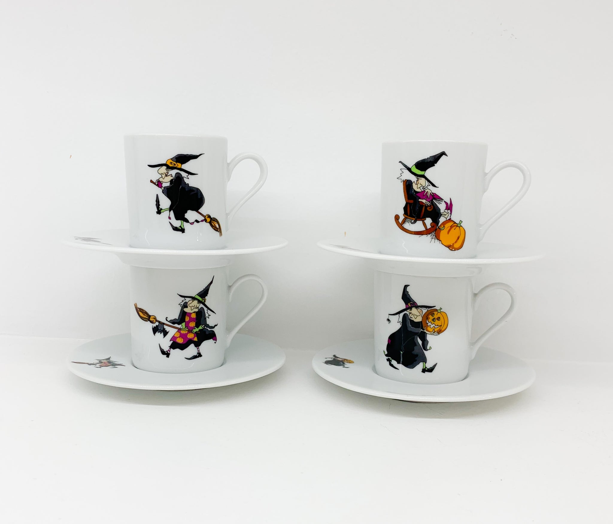 Φλιτζάνι Espresso Halloween Witches set of 4